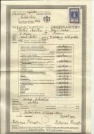 CROATIA, SABORSKO  --   CERTIFICATE  - 1922  /  1942  --  NDH TIMBRE FISCAL, TAX STAMP - Diplome Und Schulzeugnisse