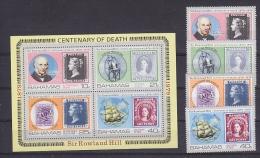 Bahamas 1979 Sir Rowland Hill 4v + M/s ** Mnh (27674) - Bahama's (1973-...)