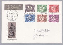 Schweiz Aemter OMS D VI 1957-09-16 FDC - Officials
