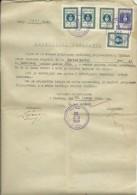 CROATIA --  NEZAVISNA DRZAVA HRVATSKA  -- NDH  --   1942  --    POLICY CERTIFICAT  -- TIMBRE FISCAL, TAX STAMP - Historische Dokumente