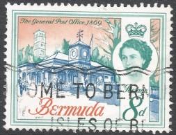Bermuda. 1962-68 QEII. 8d Used. Upright Block CA W/M SG 169 - Bermuda