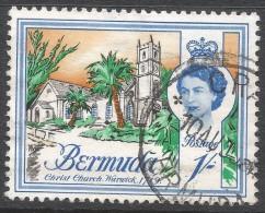 Bermuda. 1962-68 QEII. 1/- Used. Upright Block CA W/M SG 171 - Bermuda