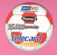 Uruguay Soccer Footbooll 35,000 Guaranies  Telecard 2003 - Uruguay