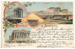Athenes (REPRINT) - SOUVENIR D'ATHENES - Acropole - Greece - Grecia