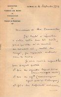 VP3559 - Lettre De La Manufacture De Tabacs Du MANS  Pour Mr Th. SCHLOESING Directeur Des Manufactures De L´Etat - Documents