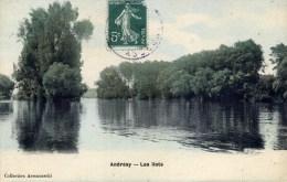 78 ANDRESY Les Ilots Carte Colorisée - Andresy