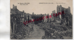 54 - GERBEVILLER - UNE RUE EN RUINES - Gerbeviller