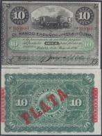 1896-BK-101. ESPAÑA SPAIN CUBA. 1896. 10$ PLATA. VF PLUS. - Cuba