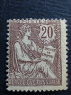 N° 126  Neuf **  Mouchon Retouché - 1900-02 Mouchon
