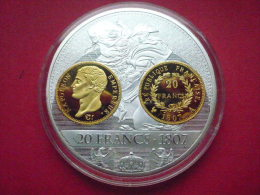 NAPOLEON  PREMIER EMPIRE : Très Belle Médaille De 20 Francs 1807 - France