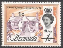 Bermuda. 1970 QEII. Decimal Surcharges, 1c On 1d MH. SG 232 - Bermuda