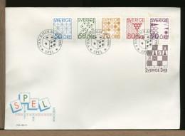 SVERIGE - FDC Cover - GIOCHI AZZARDO - GAMES - CHESS - DADO - SPEL - SPIELE - JEUX - DADI - Giochi