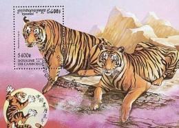 Cambodge Cambodja 1998 Yvert Bloc 135 Tigre Tiger Tijger (°) Used Faune - Cambodge