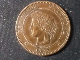 10 CENTIMES CERES 1873 K EN SUP - France