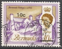 Bermuda. 1970 QEII. Decimal Surcharges, 10c On 10d Used. SG 239 - Bermuda