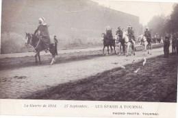 La Geurre De 1914 - 27 Septembre - Les Spahis A TOURNAI - Tournai