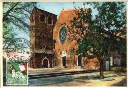 6454 Italia,  Maximum  1952, The Church Of St. Giusto In Triest, L'eglise St. Just De Trieste, Architecture - Cartoline Maximum