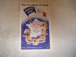 DANS LES COULISSES DU CINEMA PENSER VRAI POUR REFAIRE LA FRANCE 1942 PETAIN VICHY O.F.D.A - Libri, Riviste, Fumetti