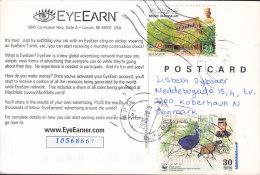 Brunei PPC Eyeearn 2009 Card Karte To Denmark WWF Panda Issue Naturschütz Bird Vogel Oiseau Bulwer's Pheasants (2 Scans) - Brunei (1984-...)