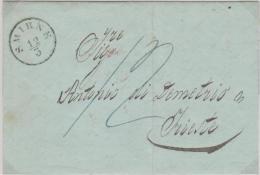 Turkey Ottoman Emp.  Austrian Post Smirne 1856 EL Canc. Smirne To Trieste - Turkey