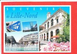 59 LILLE Cpm Multivues La Gare TGV Edit Combier - Lille