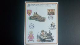 Belgique Begïe Belgium Feuillet Souvenir 50 Ans De Forces Belges En Allemagne - Bon état - Voir  1 Scan (s) Réf M6259 - Feuillets