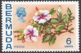 Bermuda. 1970 Flowers, 6c MH. SG 254 - Bermuda