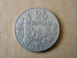 FRANCE - 25 CENTIMES PATEY 1905. BON ETAT. - Francia