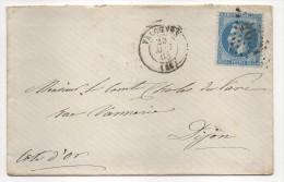 Y Et T  N°29 Bleu Sur Lettre De Valognes Adressée à Dijon, Cachet Losange, Gros Chiffres 4037 - Marcophilie (Lettres)