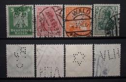 Dt.Reich 1919 - 1928 Perfins WZ Gestempelt       (I120) - Alemania