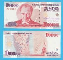 AC - TURKEY 7th EMISSION 10 000 000 TL E  UNCIRCULATED - Türkei