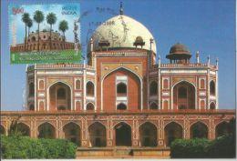 Tomb Of Humayun, Built By By His Widow Hemida Banu Begum, ´Insan-i-Kamil, UNESCO Heritage Site, Architecture, Max Card - Islam