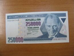 AC - TURKEY 7TH EMISSION 250 000 TL I 01 000 134 UNCIRCULATED - Turchia