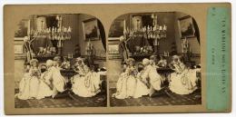 Vue Stéréoscopique Anonyme, Non Situé. Un Mariage Sous Louis XV, La Cour. N°3 - Foto