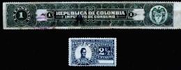 A3831) Colombia Kolumbien 1 Streifen Und 1 Marke 1899 - Kolumbien