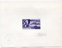 TCHAD EPREUVE D´ARTISTE DU PA 54 L'EXPLORATEUR G. NACHTIGAL (1834-1885) TIBESTI SIGNEE PAR LE GRAVEUR M. MONVOISIN - Tchad (1960-...)