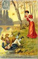 [DC2623] CPA - COPPIA - CE QUI OCCASSIONNE UN PEU DE BROUILLE - Viaggiata 1907 - Old Postcard - Coppie