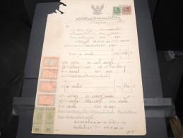 THAILLANDE - Timbres Fiscaux Sur Documents - A Voir - P17353 - Thaïlande