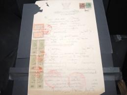 THAILLANDE - Timbres Fiscaux Sur Documents - A Voir - P17356 - Thaïlande