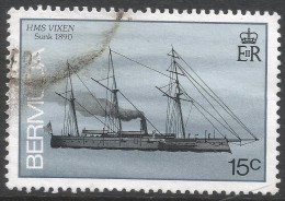 Bermuda. 1986 Ships Wrecked On Bermuda. 15c Used. SG 512A - Bermuda