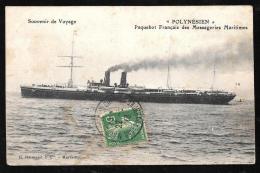 """Souvenir De Voyage - """" Polynésien """" Paquebot Français Des Messageries Maritimes  - Haq107 - Paquebots"""