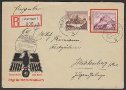 WHW SONDERKUVERT ALS EINSCHREIBEN WHW 1939 - Deutschland