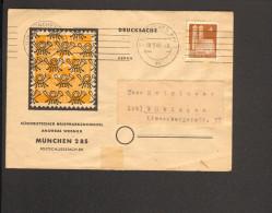 Bizone  2 Drucksachen Mit 4 Pfg. Bauten Eg Und Wg Aus München / Leck (Schlesw) - Zone Anglo-Américaine