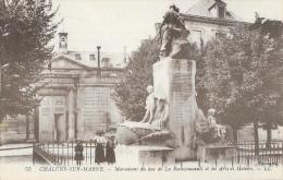 Chalons-sur-Marne - Monument Du Duc De La Rochefoucault Et L´Ecole Des Arts Et Métiers - Carte LL N°55, Non Circulée - Châlons-sur-Marne