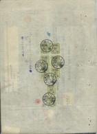 JAPON - Timbres Postaux Sur Document Fiscal - 1903 - A Voir - P17360 - Covers & Documents