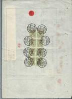 JAPON - Timbres Postaux Sur Document Fiscal - 1903 - A Voir - P17361 - Covers & Documents