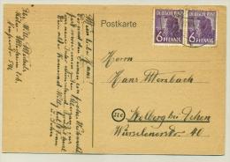 Germany - 1947 - 2x 6Pf On Comic Card - Amerikaanse, Britse-en Russische Zone