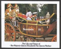 Bermuda. 1985 Life & Times Of Queen Elizabeth The Queen Mother. $1 MNH Miniature Sheet. SG MS498 - Bermuda
