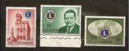 1960 San Marino Saint Marin LIONS CLUB 3v.: 60/115+Aerea 200L MNH** - Rotary, Lions Club