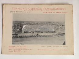 """Paquebot """"La Normandie"""" Compagnie Générale Transatlantique 1897 New-York Le Havre Ligne Directe Rare Le Caire Cairo - Transports"""
